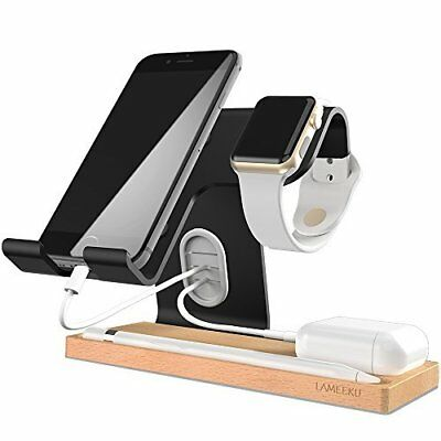 Charging Desktop Stand for iOS,Android,Tablet,Airpods & SmartWatch 38,42mm Black