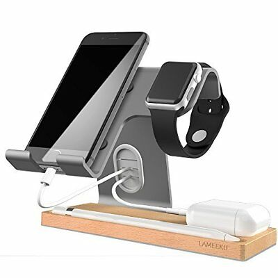 Charging Desktop Stand for iOS,Android,Tablet,Airpods & SmartWatch 38,42mm Gray