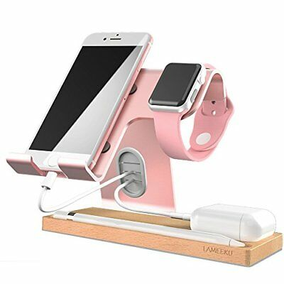 Charging Desktop Stand for iOS,Android,Tablet,Airpods & SmartWatch 38,42mm Rose