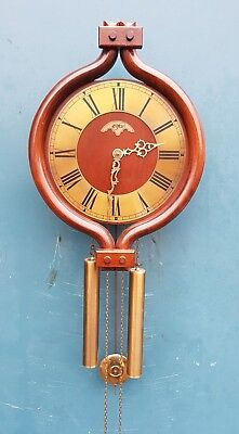 """Dutch  Orfac clock with nutwood case """"good working"""" nice Condition."""