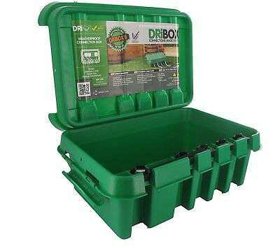 Dri-Box FL-1859-285G IP55 Weatherproof Box, Green, Medium