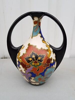 "nice ""Rosario""  Regina Gouda 2 handle vase   29,5 cm height."