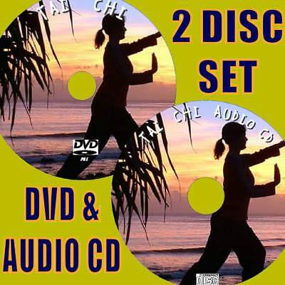 Tai Chi Instruction Beginners Step By Step Exercise Video Dvd & Audio Cd Set New