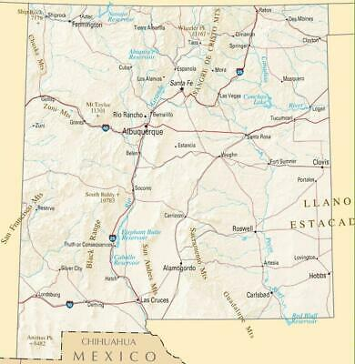 Nm Roads Map Us Map New Mexico State New Mexico Road Map Thempfa