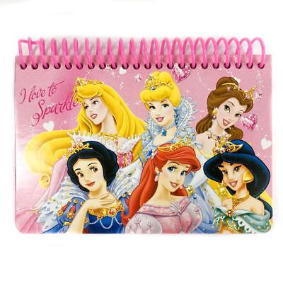 Disney Princess Licensed Autograph Book Small Note Pad Memo Kids Sparkle