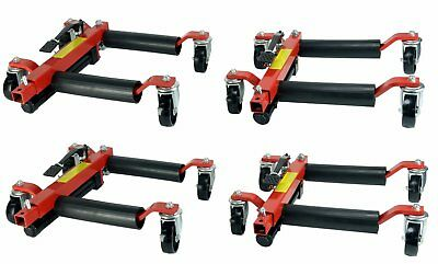 "(4) Dragway Tools® 12"" Hydraulic Wheel Dolly Vehicle Positioning Jack Lift Hoist"