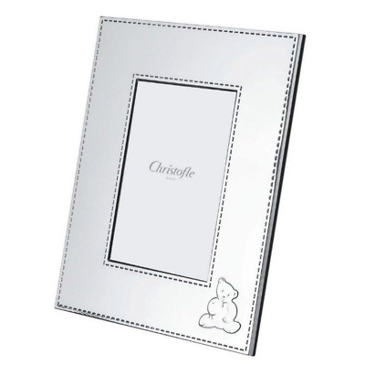 Christofle-Teddy Charlie Bear-Baby/Child-Silver Plated Picture/Photo Frame-4x6