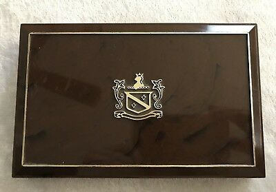 Vintage Seabourne Velvet Jewelry Display Box For Cultured Pearls