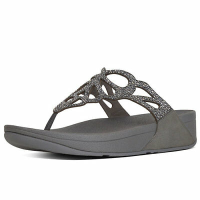 5f5d534d3d146b Fitflop Bumble Crystal Pewter Flip Flop Sandal Women s sizes 6-10 NEW!