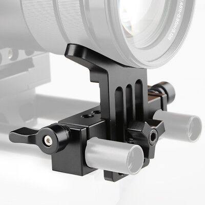 CAMVATE Lens Support 15mm Rod Clamp Rail Block for DSLR Camera Rig Rod Support