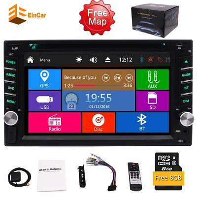 "Double 2DIN 6.2"" Bluetooth Car Stereo DVD CD MP3 Player Radio GPS Navi Remote"