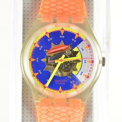 Swatch Swiss 1993 SOL Unique Skeleton Watch GK151 New Old Stock in Box