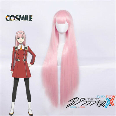 DARLING in the FRANXX Strelizia 02 ZERO TWO Cosplay Pink Hair Wig Anime