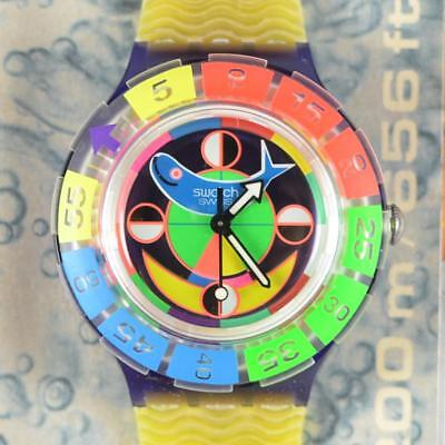 Swatch Swiss Scuba Diver Fish Colorful Unique Watch New Old Stock in Box