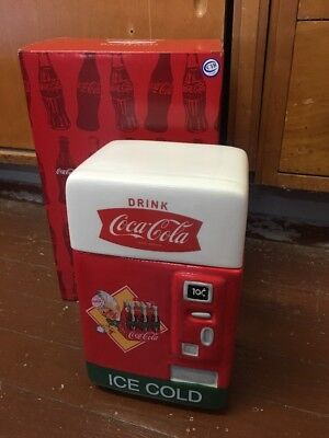 NEW COCA-COLA VENDING MACHINE CANISTER Westland Giftware, Inc. Coke Cookie Jar