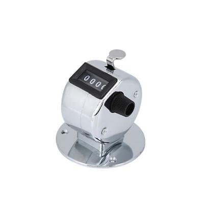 Metal Tally Counter Hand Held Clicker 4Digit Chrome Palm Golf People Counting ST