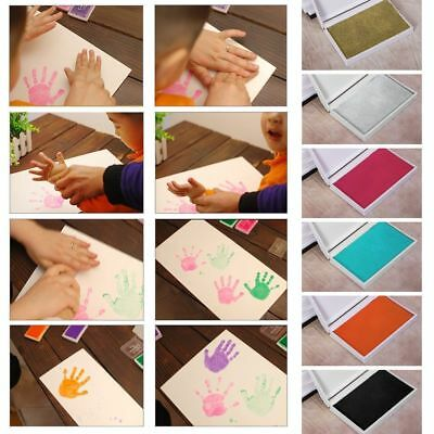 Baby Children Hands Foot Print Ink Pad Colorful Painting Stamper Craft Souvenir
