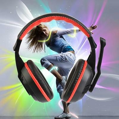 3.5mm Adjustable Gaming Headset Wired Headphones Stereo Noise-Canceling Mic