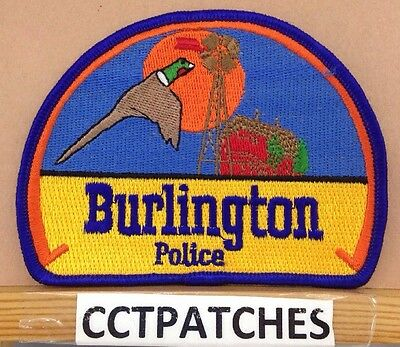 Burlington, Colorado Police Shoulder Patch Co