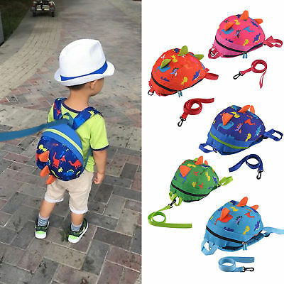 Toddler Backpack Anti-lost Band Kids Children Bag Dinosaur Cartoon School Bag US