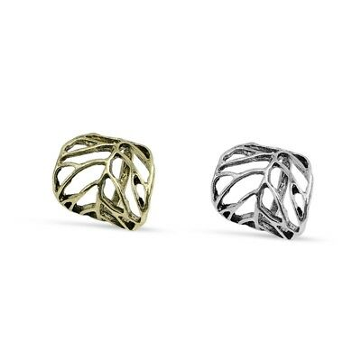 Fashion Women Retro Personality Alloy Hollow Leaves Ring Jewelry Gift