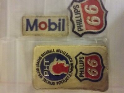 Mobil, Phillips 66 unused Patches & Phillips 66 Baseball Patch gas oil