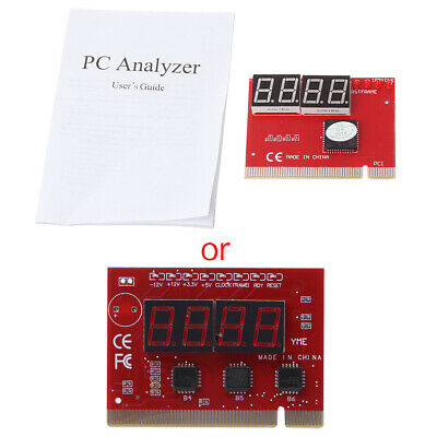 COMPUTER MOTHERBOARD LED 4 Digit Analysis Diagnostic Test POST Card PCI  Analyzer