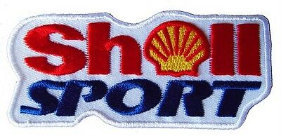 New Shell Sport Motor Oil Racing embroidered iron on patch. 4.5 x 2 inch (i75B)