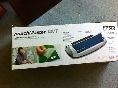 Ibico Pouchmaster 12VT A3 photo quality Laminator with pouches