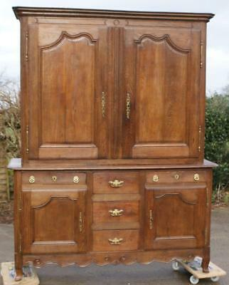 AN IMPOSING  LATE 18th CENTURY FRENCH SOLID OAK  BUFFET / DRESSER