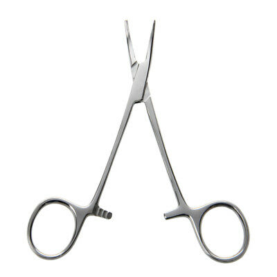 "5"" Fishing Hemostat Locking Clamps Forceps Stainless Steel Curved Tip"