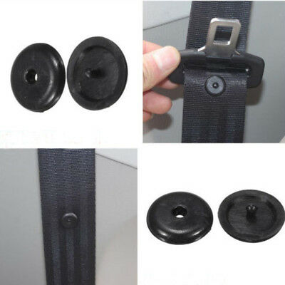 Spacing Black Safety Clip Retainer Limit Buckle Stop Button Seat Belt Stopper