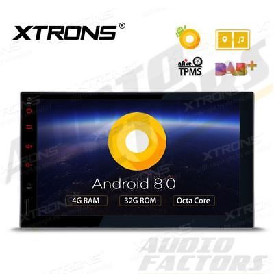 "XTRONS 8-Core Android 8.0 Double DIN 7"" Car Stereo GPS Sat Nav DAB+ Radio 4G DVR"