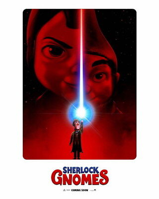 "002 SHERLOCK GNOMES 2018 - Adventure Comedy USA Movie 14""x17"" Poster"