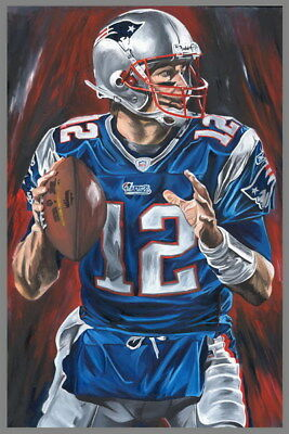 "111 Tom Brady - New England Patriots Super Bowl MVP NFL Player 24""x36"" Poster"