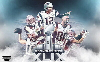 "113 Tom Brady - New England Patriots Super Bowl MVP NFL Player 38""x24"" Poster"