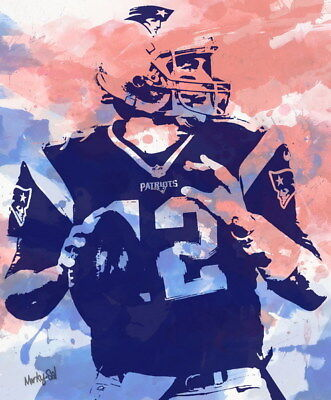 "120 Tom Brady - New England Patriots Super Bowl MVP NFL Player 24""x29"" Poster"