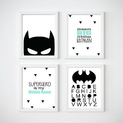 Batman Nursery Print, Kids Wall Decor, Bedroom Prints,