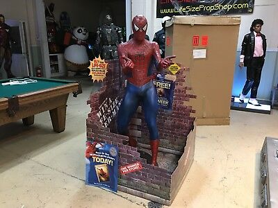 Life Size Blockbuster Video Spiderman with Original Box and Display
