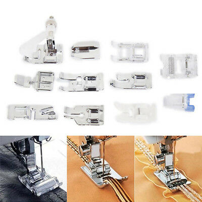 11x Presser Foot for Brother Singer Janome Domestic Portable Sewing Machine