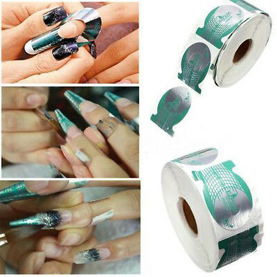 500Pcs Nail Art Guide Form Acrylic UV Gel Tip Extension Sticker Decoration Tool