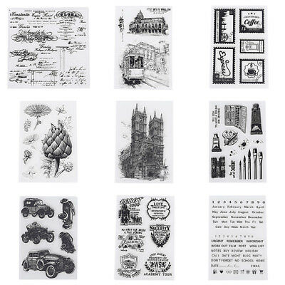 DIY Transparent Clear Silicone Stamp Scrapbook Card Decor Gift Paper Craft Retro