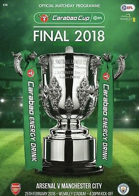 Programme : Arsenal v Manchester City - Carabao Cup Final - 25 February 2018