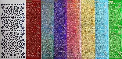 Assorted Holographic Shimmer Glitter Dots PEEL OFF STICKERS Flowers Cardmaking