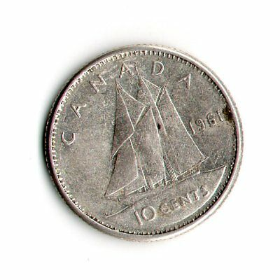 1961 Canadian Dime 80 % Silver   1367