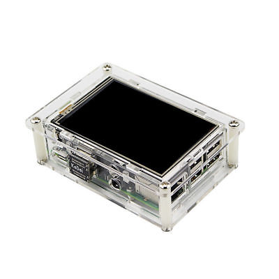 "3.5"" HDMI Monitor LCD Display Touch Screen + Case + Heatsink for Raspberry Pi 3"