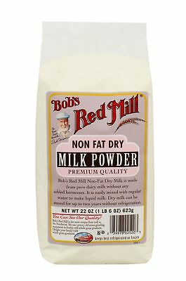 Bobs Red Mill Dry Powder Milk Non Fat 22.0 Oz Premium Quality Kosher Wholesome