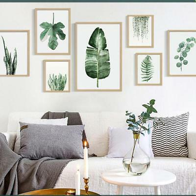 Creative Green Plants Canvas Art Print Poster Leaf Painting Wall Pictures OC AU#
