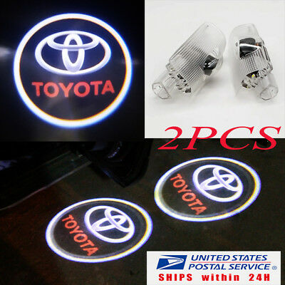 2 For Toyota Logo LED Door Courtesy Welcome Light Ghost Shadow Laser Projector