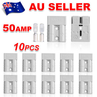 10pcs Connectors For Anderson Style 50 AMP Plug DC Power 12-24V 6AWG Set